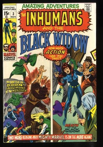 Amazing Adventures #3 NM- 9.2 White Pages Black Widow Inhumans!