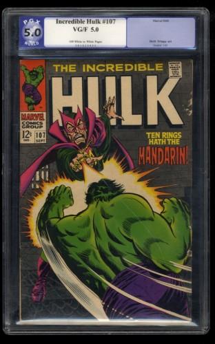 Incredible Hulk (1962) #107 PGX VG/FN 5.0 Off White to White Mandarin!