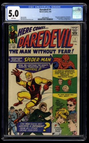 Daredevil #1 CGC VG/FN 5.0 White Pages