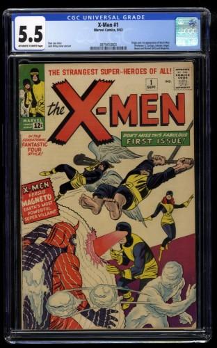 X-Men #1 CGC FN- 5.5 Off White to White
