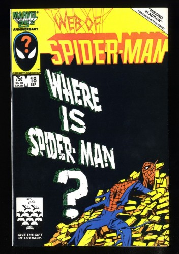 Web of Spider-Man #18 VF/NM 9.0 1st Eddie Brock!