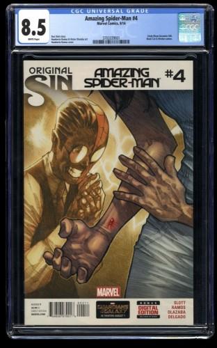 Amazing Spider-Man (2014) #4 CGC VF+ 8.5 White Pages 1st Silk!