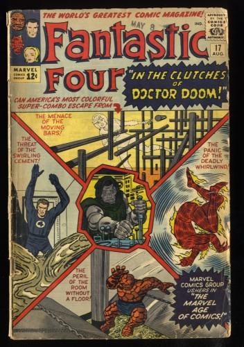 Fantastic Four #17 GD+ 2.5 Doctor Doom!