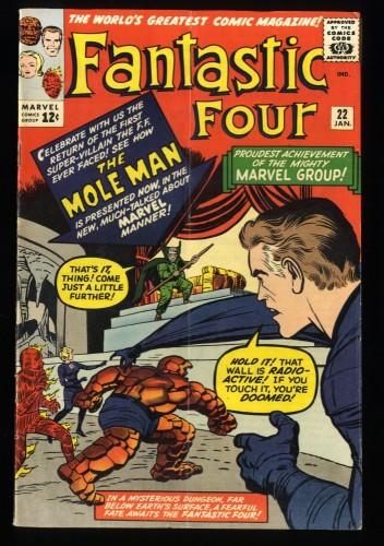 Fantastic Four #22 VG+ 4.5 Bright Colors!