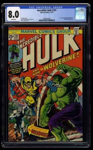 Incredible Hulk #181 CGC VF 8.0 White Pages 1st Wolverine!