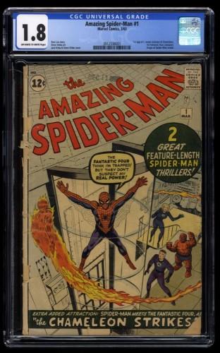 Amazing Spider-Man #1 CGC GD- 1.8 Off White to White Best price on ebay!