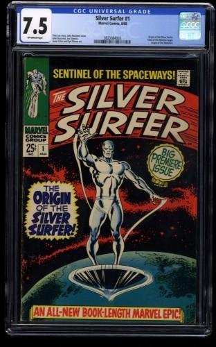 Silver Surfer #1 CGC VF- 7.5 Off White