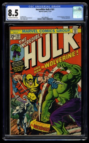 Incredible Hulk #181 CGC VF+ 8.5 Off White to White 1st Wolverine!
