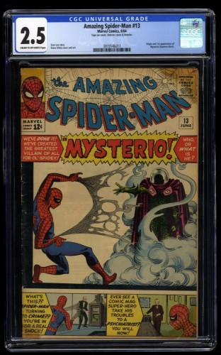 Amazing Spider-Man #13 CGC GD+ 2.5 1st Mysterio!