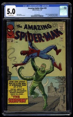 Amazing Spider-Man #20 CGC VG/FN 5.0 Off White 1st Scorpion!