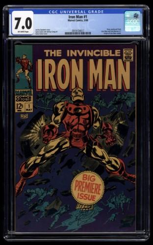 Iron Man #1 CGC FN/VF 7.0 Off White