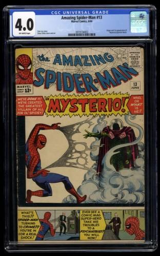 Amazing Spider-Man #13 CGC VG 4.0 Off White 1st Mysterio!