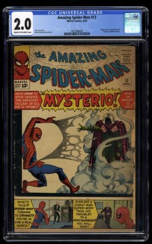 Amazing Spider-Man #13 CGC GD 2.0 1st Mysterio!