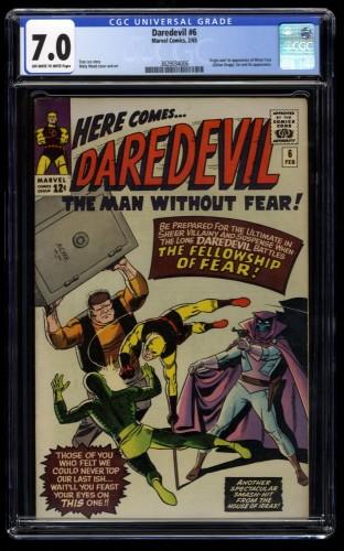 Daredevil #6 CGC FN/VF 7.0 Off White to White 1st Mr. Mister Fear!