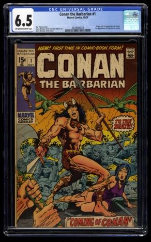 Conan The Barbarian #1 CGC FN+ 6.5 Off White to White
