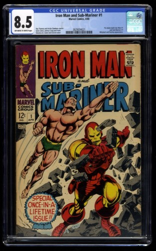 Iron Man and Sub-Mariner #1 CGC VF+ 8.5 Off White to White
