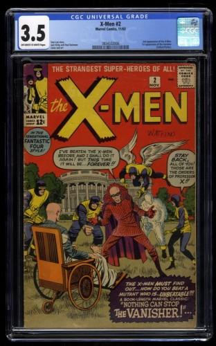 X-Men #2 CGC VG- 3.5 Off White to White 1st Vanisher!
