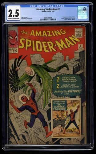 Amazing Spider-Man #2 CGC GD+ 2.5 Beautiful Copy! 1st Vulture!