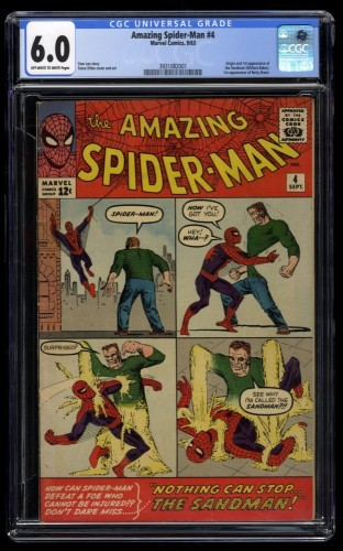 Amazing Spider-Man #4 CGC FN 6.0 Off White to White 1st Sandman!