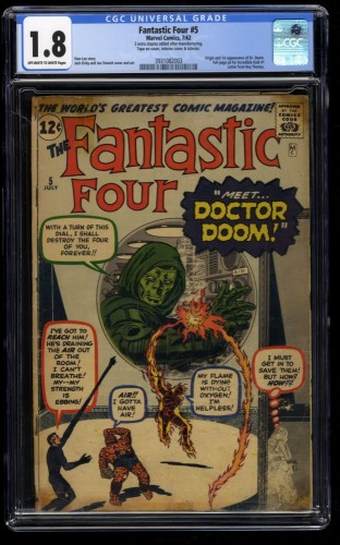 Fantastic Four #5 CGC GD- 1.8 Off White to White 1st Doctor Doom!