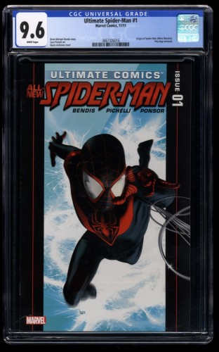 Ultimate Spider-Man #1 CGC NM+ 9.6 White Pages Miles Morales!
