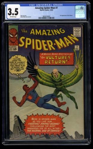 Amazing Spider-Man #7 CGC VG- 3.5 Off White Vulture!
