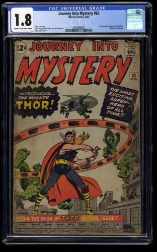 Journey Into Mystery #83 CGC GD- 1.8 1st Thor!