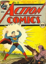 Action Comics #35 WWII German War Cover!