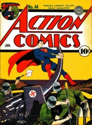 Action Comics #44 Classic Superman WWII Nazis Cover!