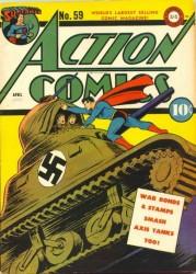 Action Comics #59 Nazi WWII War Tank Cover Superman!