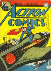 Action Comics #63 WWII Japanese War Cover! Superman!
