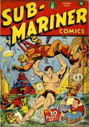 Sub-Mariner Comics #6 Alex Schomburg Cover!