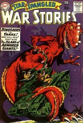 Star Spangled War Stories #90 1st War that Time Forgot!  Dino Cover!