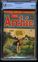 Item: Archie Comics #12 CBCS FA/GD 1.5 Cream To Off White