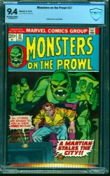 Monsters on the Prowl #21 CBCS NM 9.4 Off White to White