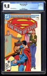 Man of Steel #6 CGC NM/M 9.8 White Pages