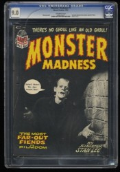 Monster Madness #1 CGC VF/NM 9.0 Off White Frankenstein!