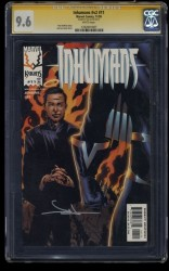 Inhumans (1998) #11 CGC NM+ 9.6 White Pages SS Signed Jae Lee!