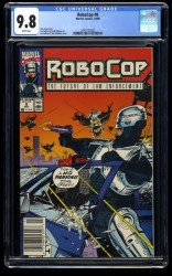 Robocop #8 CGC NM/M 9.8 White Pages