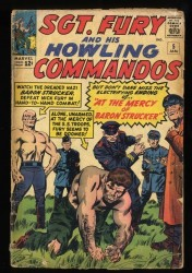 Sgt. Fury and His Howling Commandos #5 GD- 1.8 1st Baron Strucker!