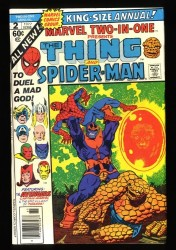 Marvel Two-In-One Annual #2 VF+ 8.5 Thanos Spider-Man Thing!