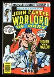 John Carter Warlord of Mars #3 NM+ 9.6