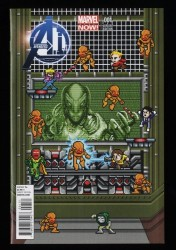 Avengers A.I. #1 NM 9.4 1:25 8-Bit Ultron Variant Video Game