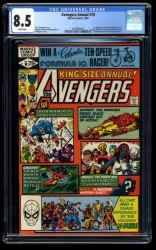 Avengers Annual #10 CGC VF+ 8.5 White Pages 1st Rogue!