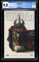 Ultimatum #1 CGC NM/M 9.8 White Pages 1:100 Finch Variant Magneto