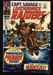 Capt. Savage and His Leatherneck Raiders #1 FN/VF 7.0 White Pages