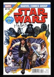 Star Wars (2015) #1 NM- 9.2 Signed by Mike Perkins! Heroes Haven Variant