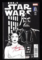 Star Wars (2015) #1 NM+ 9.6 Signed Amanda Conner! Vault Collectibles Sketch