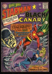 Brave And The Bold #61 VG 4.0 Starman Black Canary!