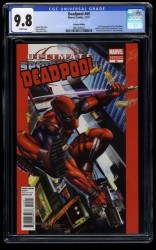 Deadpool (2008) #45 CGC NM/M 9.8 White Pages Greg Horn Variant 50th Anniversary